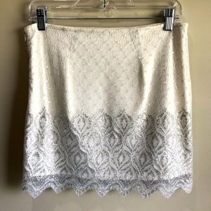 FP Lace and Shimmer Mini Skirt